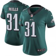 Wholesale Cheap Nike Eagles #31 Jalen Mills Midnight Green Team Color Women's Stitched NFL Vapor Untouchable Limited Jersey