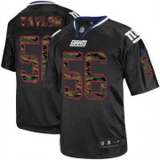 Wholesale Cheap Nike Giants #56 Lawrence Taylor Black Men's Stitched NFL Elite Camo Fashion Jersey