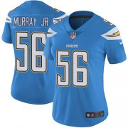 Wholesale Cheap Nike Chargers #56 Kenneth Murray Jr Electric Blue Alternate Women's Stitched NFL Vapor Untouchable Limited Jersey
