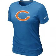 Wholesale Cheap Women's Nike Chicago Bears Logo NFL T-Shirt Light Blue