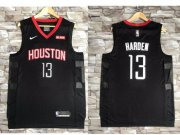 Wholesale Cheap Nike Houston Rockets #13 James Harden Black NBA Swingman Statement Edition Jersey