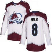 Wholesale Cheap Adidas Avalanche #8 Cale Makar White Road Authentic Stitched Youth NHL Jersey