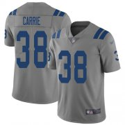 Wholesale Cheap Nike Colts #38 T.J. Carrie Gray Men's Stitched NFL Limited Inverted Legend Jersey