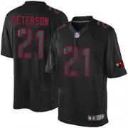 Wholesale Cheap Nike Cardinals #21 Patrick Peterson Black Men's Stitched NFL Impact Limited Jersey