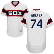 Wholesale Cheap White Sox #74 Eloy Jimenez White Flexbase Authentic Collection Alternate Home Stitched MLB Jerseys