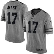 Wholesale Cheap Nike Bills #17 Josh Allen Gray Men's Stitched NFL Limited Gridiron Gray Jersey