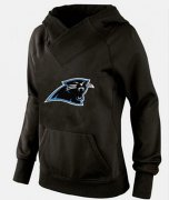 Wholesale Cheap Women's Carolina Panthers Logo Pullover Hoodie Black