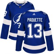 Cheap Adidas Lightning #13 Cedric Paquette Blue Home Authentic Women's Stitched NHL Jersey