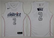Wholesale Cheap Nike Wizards #2 John Wall White City Edition Swingman Jersey
