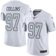 Wholesale Cheap Nike Raiders #97 Maliek Collins White Men's Stitched NFL Limited Rush Jersey