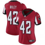 Wholesale Cheap Nike Falcons #42 Duke Riley Red Team Color Women's Stitched NFL Vapor Untouchable Limited Jersey