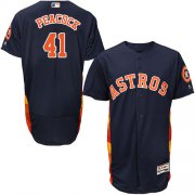 Wholesale Cheap Astros #41 Brad Peacock Navy Blue Flexbase Authentic Collection Stitched MLB Jersey