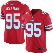 Wholesale Cheap Nike Bills #95 Kyle Williams Red Men's Stitched NFL Elite Rush Jersey