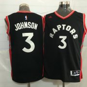 Wholesale Cheap Men's Toronto Raptors #3 James Johnson Black With Red New NBA Rev 30 Swingman Jersey