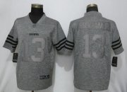 Wholesale Cheap Nike Browns #13 Odell Beckham Jr Gray Men's Stitched NFL Limited Gridiron Gray Jersey