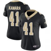 Wholesale Cheap Nike Saints #41 Alvin Kamara Black Team Color Women's Stitched NFL Vapor Untouchable Limited Jersey