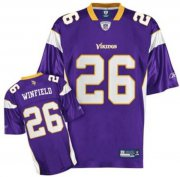Wholesale Cheap Vikings #26 Antoine Winfield Purple Stitched NFL Jersey