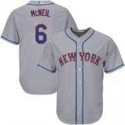 Wholesale Cheap Mets #6 Jeff McNeil Grey New Cool Base Stitched MLB Jersey