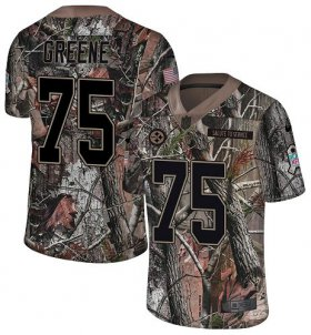 Wholesale Cheap Nike Steelers #75 Joe Greene Camo Youth Stitched NFL Limited Rush Realtree Jersey