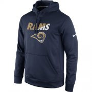 Wholesale Cheap Los Angeles Rams Nike Kick Off Staff Performance Pullover Hoodie Navy