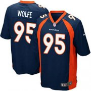 Wholesale Cheap Nike Broncos #95 Derek Wolfe Blue Alternate Youth Stitched NFL New Elite Jersey