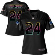 Wholesale Cheap Nike Patriots #24 Stephon Gilmore Black Women's NFL Fashion Game Jersey