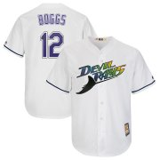 Wholesale Cheap Tampa Bay Rays #12 Wade Boggs Majestic Turn Back The Clock Home Cool Base Cooperstown Player Jersey White