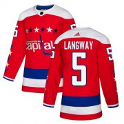 Wholesale Adidas Capitals #5 Rod Langway Red Home Authentic Stitched NHL Jersey
