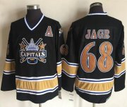 Wholesale Cheap Capitals #68 Jaromir Jagr Black CCM Throwback Stitched NHL Jersey