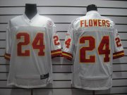 Wholesale Cheap Chiefs #24 Brandon Flowers White Stitched NFL Jersey