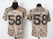 Wholesale Cheap Nike Broncos #58 Von Miller Camo Men's Stitched NFL New Elite USMC Jersey