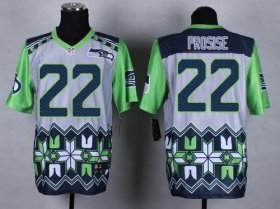 Wholesale Nike Seahawks #22 C. J. Prosise Grey Men\'s Stitched NFL Elite Noble Fashion Jersey