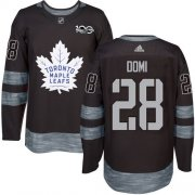 Wholesale Cheap Adidas Maple Leafs #28 Tie Domi Black 1917-2017 100th Anniversary Stitched NHL Jersey