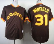 Wholesale Cheap Padres #31 Dave Winfield Coffee 1984 Turn Back The Clock Stitched MLB Jersey