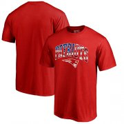 Wholesale Cheap Men's New England Patriots Pro Line by Fanatics Branded Red Banner Wave T-Shirt