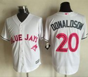 Wholesale Cheap Blue Jays #20 Josh Donaldson White New Cool Base Mother's Day Stitched MLB Jersey
