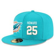 Wholesale Cheap Miami Dolphins #25 Xavien Howard Snapback Cap NFL Player Aqua Green with White Number Stitched Hat