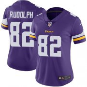 Wholesale Cheap Nike Vikings #82 Kyle Rudolph Purple Team Color Women's Stitched NFL Vapor Untouchable Limited Jersey