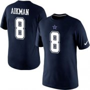 Wholesale Nike Dallas Cowboys #8 Troy Aikman Pride Name & Number NFL T-Shirt Blue