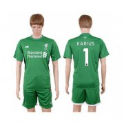 Wholesale Cheap Liverpool #1 Karius Green Goalkeeper Soccer Club Jersey
