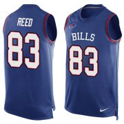 Wholesale Cheap Nike Bills #83 Andre Reed Royal Blue Team Color Men's Stitched NFL Limited Tank Top Jersey