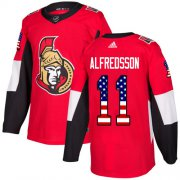 Wholesale Cheap Adidas Senators #11 Daniel Alfredsson Red Home Authentic USA Flag Stitched Youth NHL Jersey