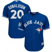 Wholesale Cheap Blue Jays #20 Josh Donaldson Blue 2018 Spring Training Cool Base Stitched MLB Jersey
