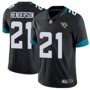 Wholesale Cheap Nike Jaguars #21 C.J. Henderson Black Team Color Men's Stitched NFL Vapor Untouchable Limited Jersey