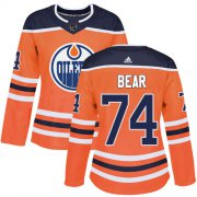 Wholesale Cheap Adidas Oilers #74 Ethan Bear Orange Home Authentic Women's Stitched NHL Jersey