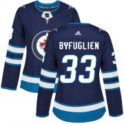 Wholesale Cheap Adidas Jets #33 Dustin Byfuglien Navy Blue Home Authentic Women's Stitched NHL Jersey