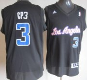 Wholesale Cheap Los Angeles Clippers #3 CP3 Black Fashion Jersey
