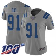 Wholesale Cheap Nike Colts #91 Sheldon Day Gray Women's Stitched NFL Limited Inverted Legend 100th Season Jersey