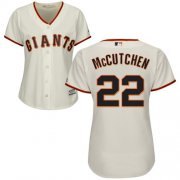 Wholesale Cheap Giants #22 Andrew McCutchen Cream Home Women's Stitched MLB Jersey