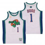 Wholesale Cheap Men's Space Jam #1 Bugs Bunny White Soul Swingman Basketball Jersey